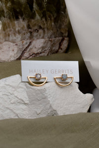 Hailey Gerrits | Pine Stud Earrings - Labordorite