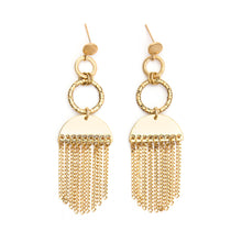 Load image into Gallery viewer, Psyche | Gold Fringe Earring