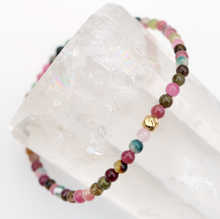 Load image into Gallery viewer, Rainbow Tourmaline | Bracelet 14K Filled