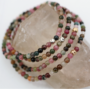 Rainbow Tourmaline | Bracelet 14K Filled