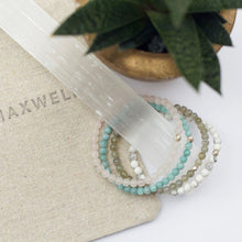 Load image into Gallery viewer, Dainty Calmness Bracelet | Howlite | Sterling Silver