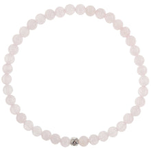 Load image into Gallery viewer, Dainty Self Love Bracelet | Rose Quartz | Sterling Silver