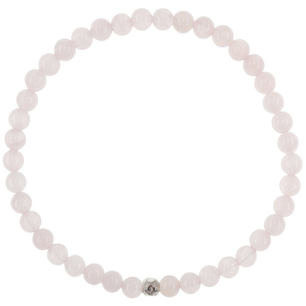 Dainty Self Love Bracelet | Rose Quartz | Sterling Silver