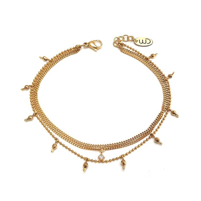 Satelli | Gold Anklet