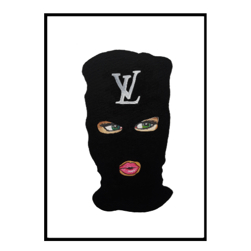 LV Mystery Mask Green Eyes (275)