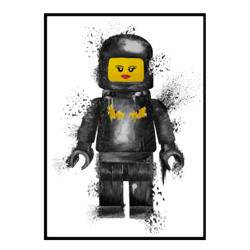 FF Bug Eyes Lego Lips Black (317)