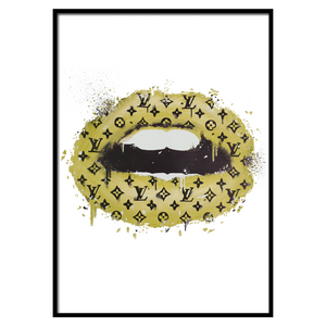 LV Lips Yellow Portrait (253)