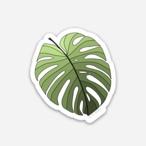 Green Ombré Monstera Sticker