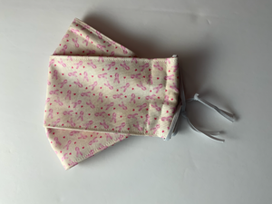 Ready-made washable 3D Cloth Face Mask - Breast Cancer Awareness