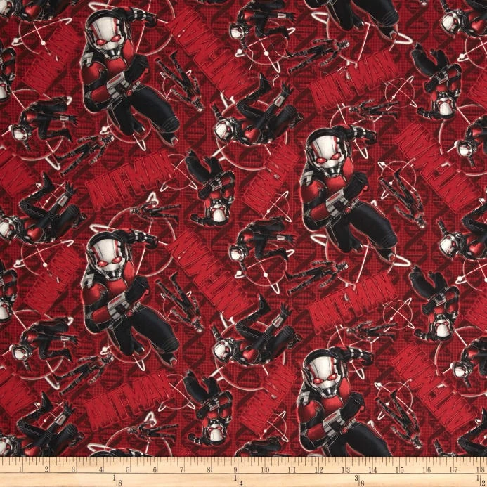 Custom Cloth Face Mask - Handmade - Cotton - 3D or Olson Style - Ant Man Red