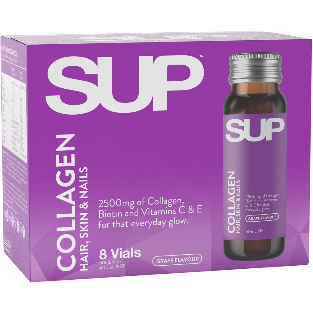 SUP COLLAGEN HAIR SKIN AND NAILS SHOTS 8 x 50ml Vials