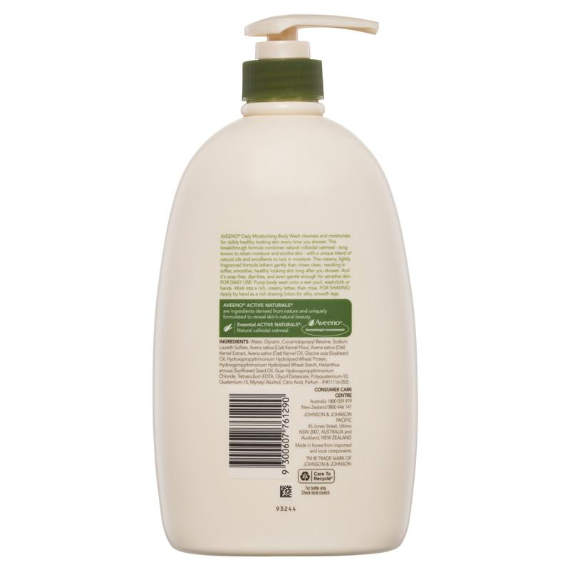 Aveeno Active Naturals Daily Moisturising Body Wash 1 L