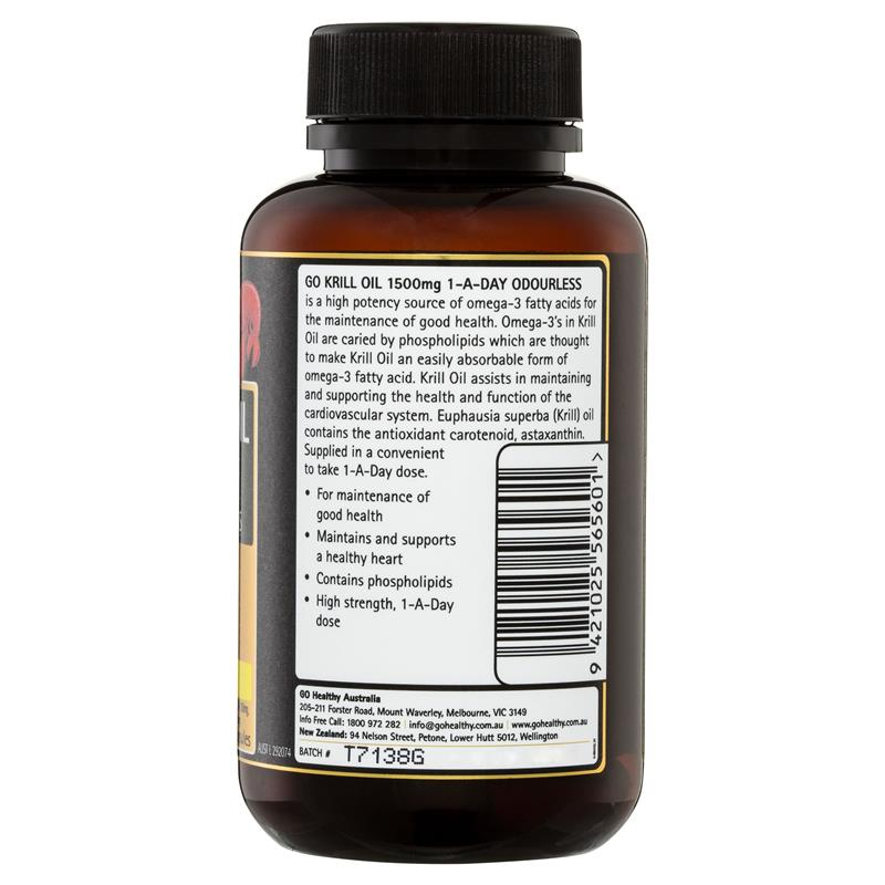 GO Healthy Krill Oil 1500mg 60 Softgel Capsules