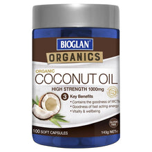 Load image into Gallery viewer, Bioglan Superfoods Coconut Oil 100 Capsules