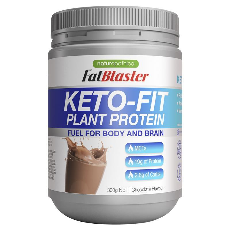 Naturopathica Fatblaster Keto Fit Plant Protein Shake Chocolate 300g