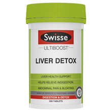 Load image into Gallery viewer, SWISSE Ultiboost Liver Detox 200 Tablets