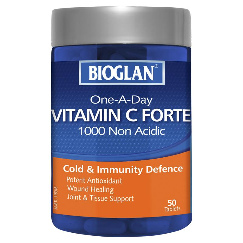 Bioglan One-a-Day Vitamin C Forte 1000mg 50 Tablets