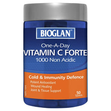 Load image into Gallery viewer, Bioglan One-a-Day Vitamin C Forte 1000mg 50 Tablets