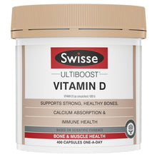 Load image into Gallery viewer, SWISSE Ultiboost Vitamin D 400 Capsules