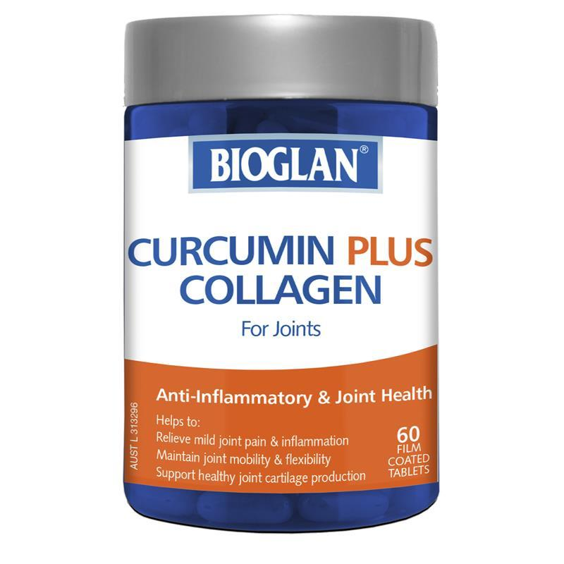 Bioglan Curcumin Plus Collagen 60 Tablets