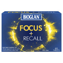 Load image into Gallery viewer, Bioglan Focus + Recall 60 Tablets