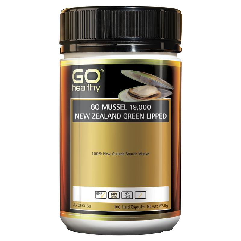 Go Healthy Mussel NZ Green Lipped 19000mg 100 Hard Capsule