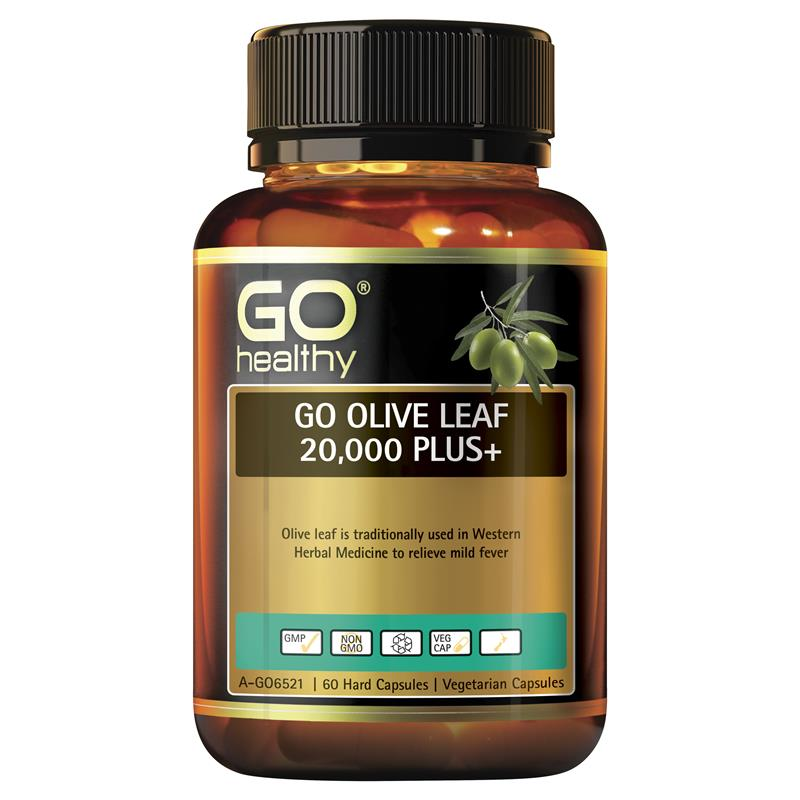 Go Healthy Olive Leaf 20000 Plus+ 60 Vege Capsules