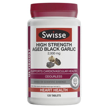 Load image into Gallery viewer, SWISSE Ultiboost High Strength Aged Black Garlic 120 Tablets