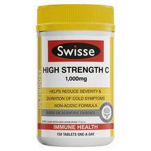 Load image into Gallery viewer, SWISSE Ultiboost High Strength Vitamin C 1000mg 150 Tablets
