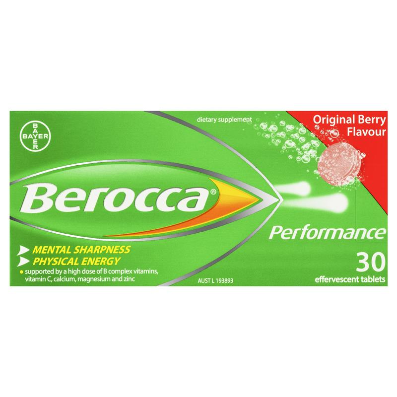 Berocca Energy Vitamin Original Berry Effervescent Tablets 30 pack