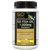 Load image into Gallery viewer, GO Healthy Fish Oil 1000mg Odourless 400 Softgel Capsules