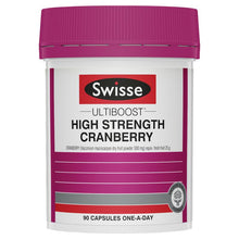Load image into Gallery viewer, SWISSE Ultiboost High Strength Cranberry 90 Capsules