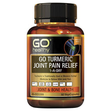 Load image into Gallery viewer, GO Healthy Turmeric Joint Pain Relief 1 A Day 60 Vege Capsules