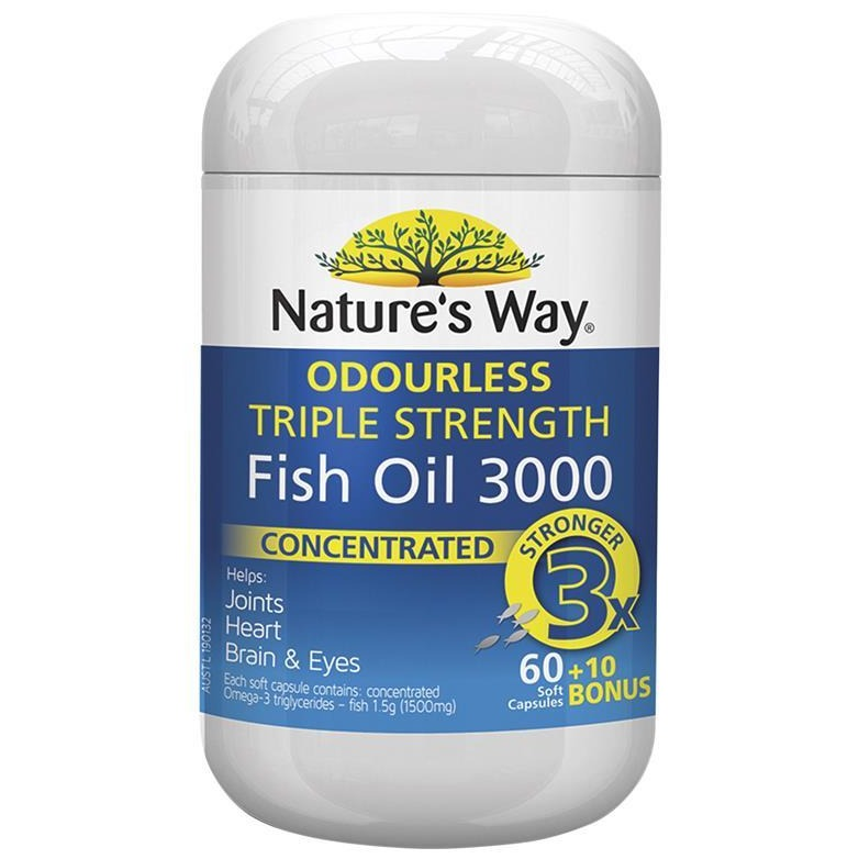 Nature's Way Advanced Omega Triple Strength Fish Oil 60 + 10 Capsules