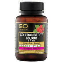 Load image into Gallery viewer, GO Healthy Cranberry 60000+ 60 Vege Capsules
