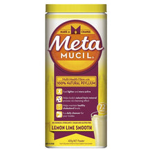 Load image into Gallery viewer, Metamucil Fibre Supplement Smooth Texture Lemon-Lime Flavour 72 doses 425g