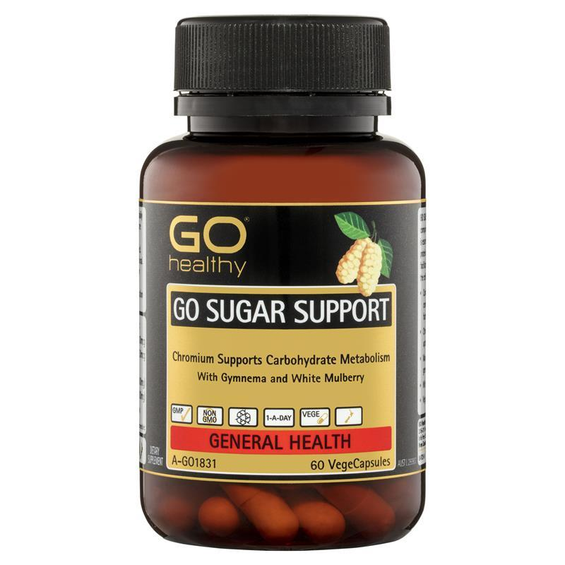 GO Healthy Sugar Support 60 Vege Capsules