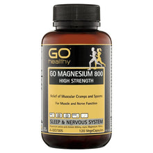 Load image into Gallery viewer, GO Healthy Magnesium 800 120 Vege Capsules