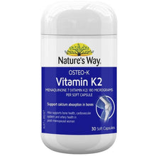 Load image into Gallery viewer, Nature's Way Osteo-K Vitamin K2 180mcg 30 Soft Capsules