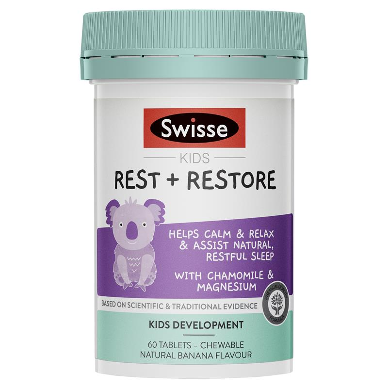 SWISSE Kids Rest & Restore 60 Tablets