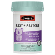 Load image into Gallery viewer, SWISSE Kids Rest & Restore 60 Tablets