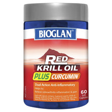 Load image into Gallery viewer, Bioglan Red Krill Plus Curcumin 60 Capsules