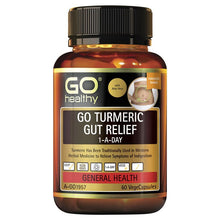 Load image into Gallery viewer, GO Healthy Turmeric Gut Relief 1 A Day 60 Vege Capsules