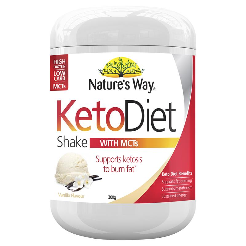 Nature's Way Keto Diet Shake Vanilla 300g Powder