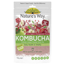 Load image into Gallery viewer, Nature's Way Apple & Pomegranate Flavour Kombucha Probiotic Powder Drink Mix 50g