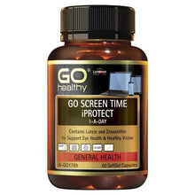 Load image into Gallery viewer, GO Healthy Screen Time iProtect 60 Softgel Capsules