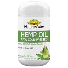 Load image into Gallery viewer, Nature's Way Hemp Oil Pure 1000mg 60 Capsules