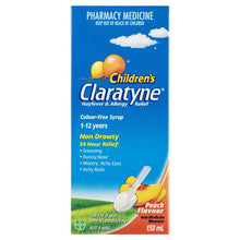 Load image into Gallery viewer, Claratyne Children's Hayfever & Allergy Relief Antihistamine Peach Flavoured Syrup 150ml (Limit of ONE per Order)