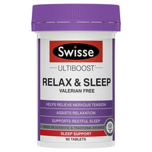 Load image into Gallery viewer, SWISSE Ultiboost Relax & Sleep 60 Tablets