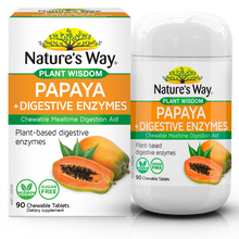 Load image into Gallery viewer, Nature's Way PLANT WISDOM PAPAYA +DIGESTIVE ENZYME CHEWABLE TABLETS 90S